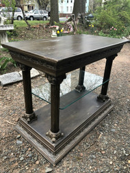 Ornate Glass Shelf Entry Table