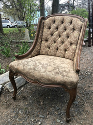 French Tufted Accent Chair