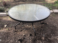 "48"" Round Glass Patio Table"