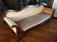 Antique Empire Velvet Sofa
