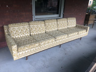 Mid Century Modern 9ft Sofa - 2 Pcs Matching Pair - Priced Individually