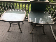 Pair of Aluminum Patio End Tables