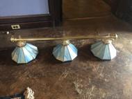 Stained Glass 3 Light Billiard / Island Chandelier