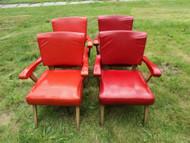 Vintage VIKING ARTLINE 1950's Naugahyde Arm Chairs