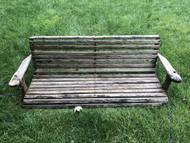 5ft wooden porch swing