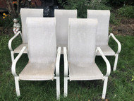 Set of 5 tall back patio chairs