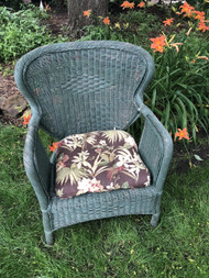 Green Wicker Arm Chair #1