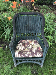 Green Wicker Arm Chair #2
