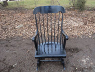 Black Windsor Rocking Chair