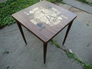 Poker Themed Square Side Table