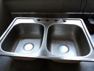 18 Guage Stainless Steel Double Sink