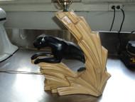 Mid Century Modern Black Jaguar FAIP Lamp