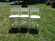 3 White Barstools