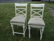 Pair of White Counter Height Chairs