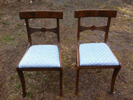 Pair of Antique Walnut Side Chairs