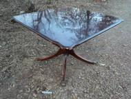 Square Mahogany Pedestal Table