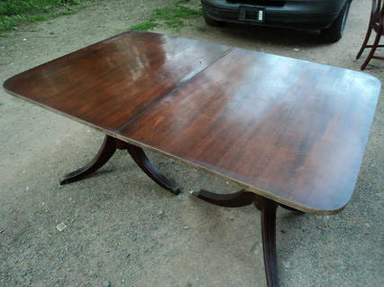 Antique Oval Mahogany Duncan Phyfe Dining Table Forgotten Furniture