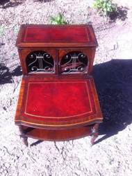 Antique Mahogany Music End Table