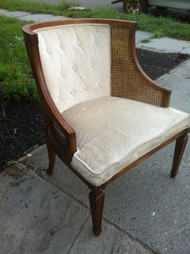Caned Walnut Arm Chair