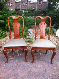 Pair of Cherry Queen Anne Side Chairs