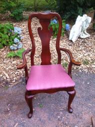 Queen Anne Cherry Arm Chair