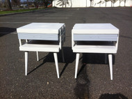Two - Tone Modern End Tables