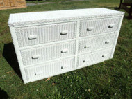 Wicker 6 Drawer Dresser