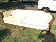 Vintage Caned Sofa