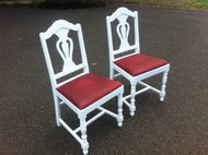 Pair of Shabby Chic Depression Chairs