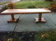 Solid Maple 5ft Double Pedestal Coffee Table
