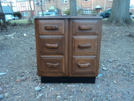 Solid Wood 6 Drawer Nightstand / End Table