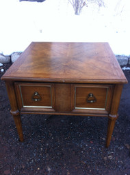 Square Oak End Table