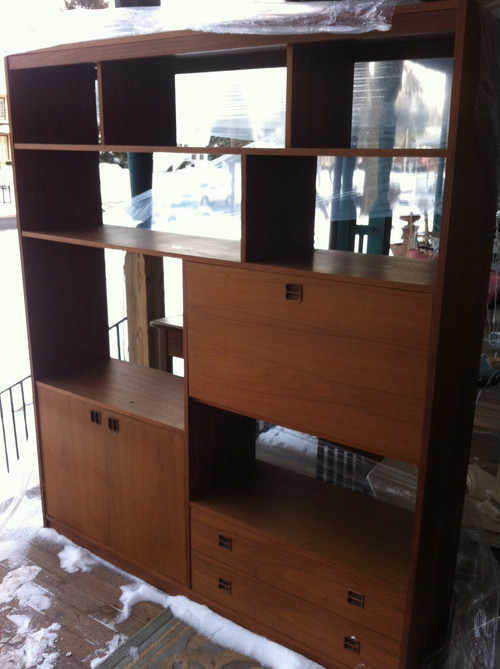 Mid Century Modern Teak Wall Unit Forgotten Furniture