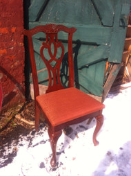 Set of 7 Cherry Queen Anne Dining Chairs