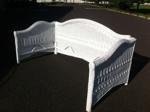 White Wicker Daybed W Metal Frame Forgotten Furniture
