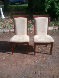 Pair of Scalloped Cherry Side Chairs