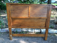 Solid Mahogany Slatted Full Size Headboard