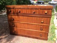 Antique Walnut 6 Drawer Dresser