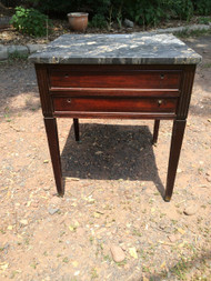 Mahogany End Table w/ Granite Top