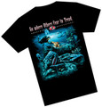 Amphibious Outfitters T-Shirt Sunken Plane  Fear to Tread Scuba Diving