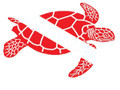 Scuba Diving Bumper Sticker Dive Flag Decal - Swimming Turtle