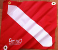 "Diver Down Flag with Stiffener 14"" x 16"" PVC Grommets Dive Flag Scuba Diving"