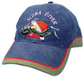 Scuba Diving Dive Hat Swimming Diver Flag Blue AP21