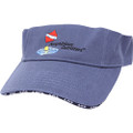 Amphibious Outfitters Visor Hat - Lake Blue - Adjustable - Scuba Dive - V0003L