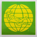 "Scuba Diving Bumper Decal Sticker - Dive Nitrox Green & Yellow - 3"" x 3"""