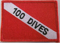"Patch Dive Flag Decal ""100 Dives"""