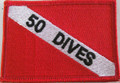 "Patch Dive Flag Decal ""50 Dives"""