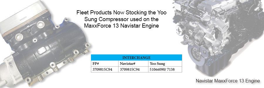 Fleet Products Now Stocking You Sung Compressors