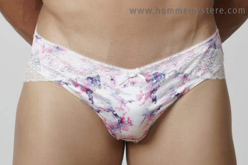 Cute floral pattern with lace overlay