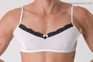 Scrunchy bra front. Perfect fit, longer straps, once you try it, you'll be converted.